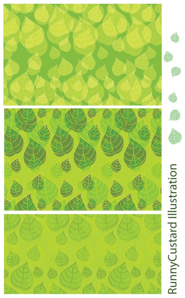 Selection of Leaves - repeat pattern