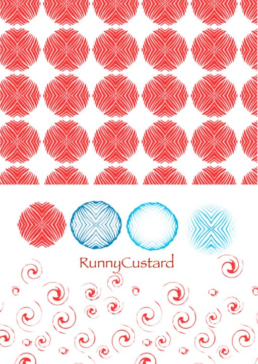 Illustrator pattern motifs -created from pervious elements.