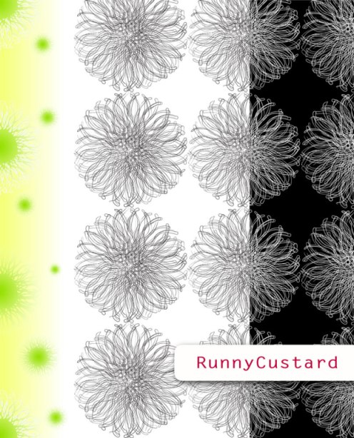 anemone mouth motif turned into a floral type shape... various selection of changes give in this collection.