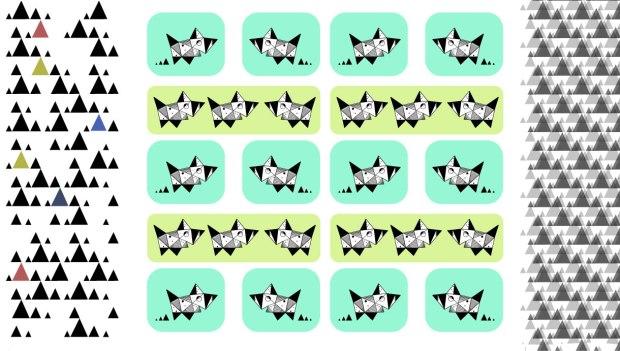 Tesla Pups Triplets - Repeat Pattern