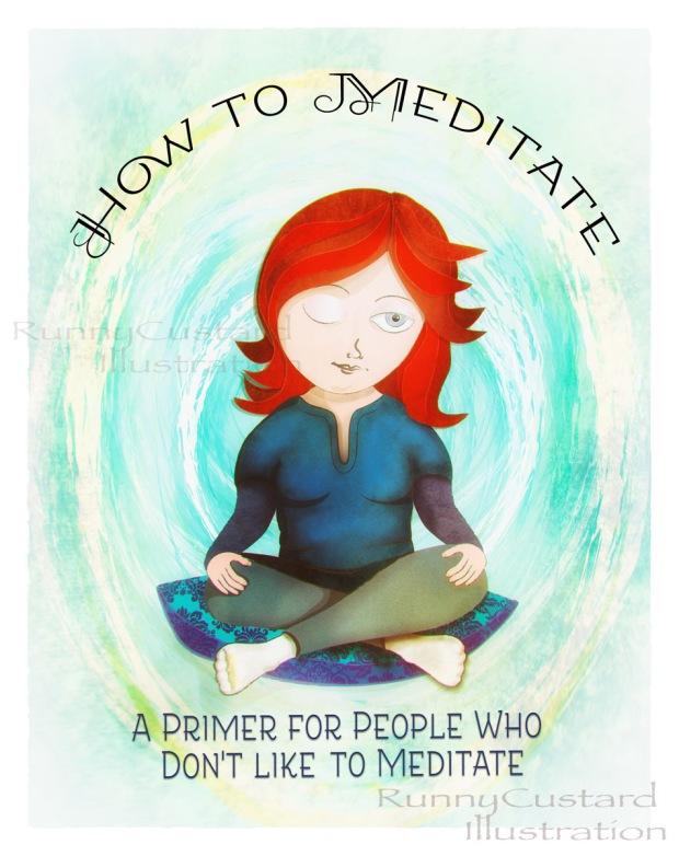 meditating girl illustration