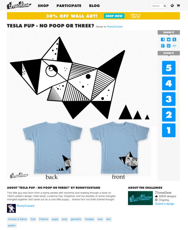 Tesla Pups Threadless T-shirt