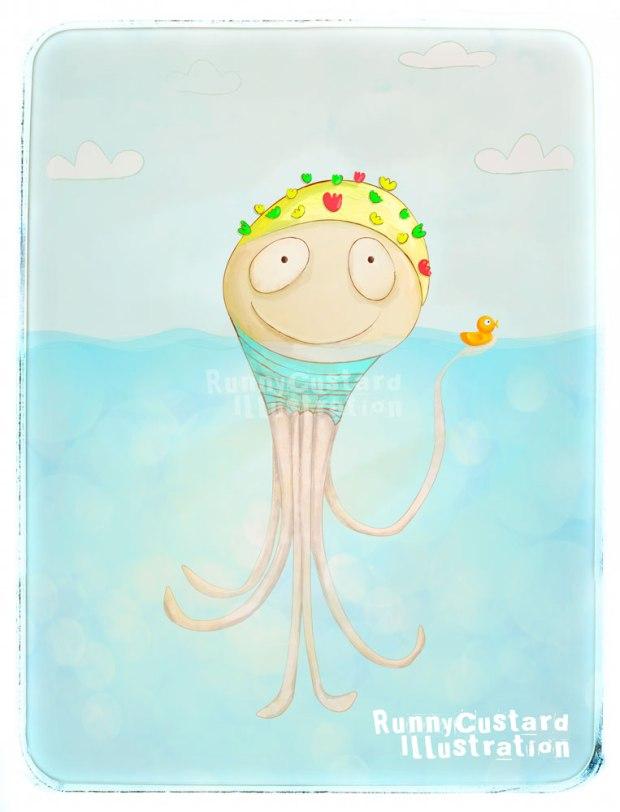 Swimming-Cap-Octopus