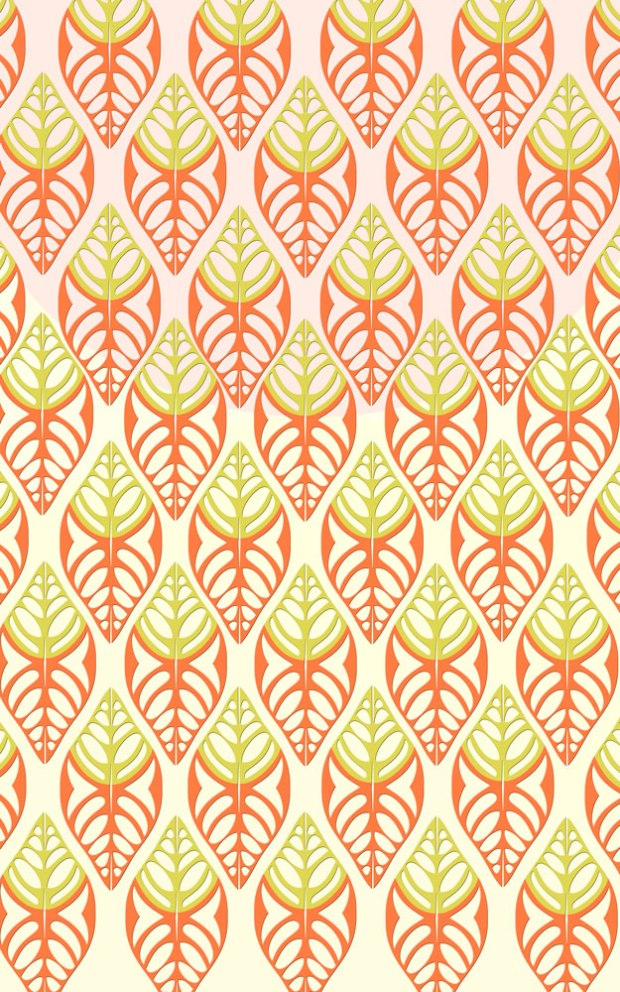 layered leaf graphic motif
