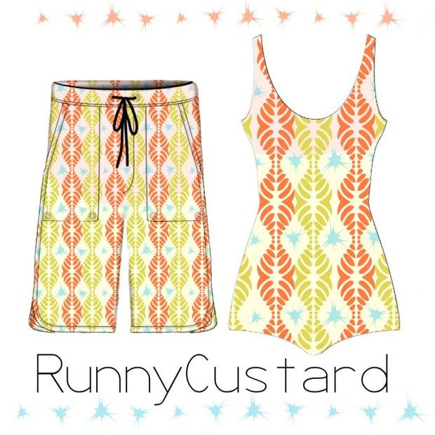pattern design on swim suit mockups