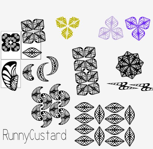 surface pattern design motif