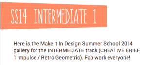 Make it in Design Summer Camp Intermediate 1